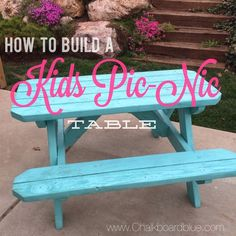 How to Build a Kids Pic-Nic Table