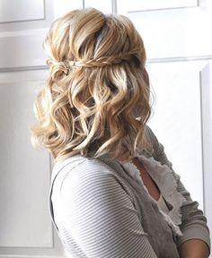 hair boho hair styles for long hair down wedding hair dos hair styles medium length hair in wedding hair swept wedding hair hair curly hair styles for short hair Spring Hairstyles, Pretty Hairstyles, Hairstyle Ideas, Medium Hairstyles, Hairstyle Tutorials, Braid Tutorials, Twisted Hairstyles, Hairstyles 2016, Boho Hairstyles