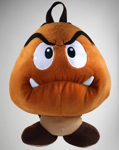 Goomba plush backpack. Brilliant. You have to #taymai