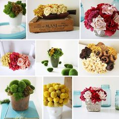 I know it's a terrible sin, but I might attempt some STYLISH fake flower designs for the apartment!