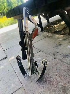 Newest version outdoor Crossbow Mini Shooting Delux Toy --Full Stainless Steel Hunting Tips, Bow Hunting, Sling Bow, Crossbow Targets, Mens Gear, Catapult, Survival Skills, Archery, Weapons