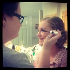 Adding the finishing touches to my cousin's Homecoming Queen makeup look! #MakeupbyLorann
