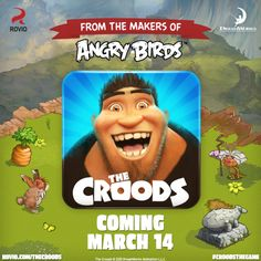 Rovio Gears Up To Launch 'The Croods,' A Movie Tie-In Game - Rovio has announced that it will launch a new game, 'The Croods' on March 14th. The Crood will essentially be a movie tie-in game. [Click on Image Or Source on Top to See Full News]