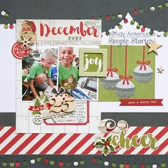 Joy & Cheer **Claus & Co collection from Simple Stories http://antenucci.blogspot.com