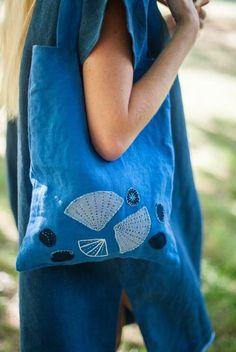 FIBER & HEART® - linen bag SHELLS (V)