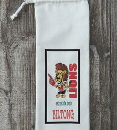 Biltong bags – the perfect gift for a special man. Biltong, Gift Bags, Cool Gifts, Lions, Reusable Tote Bags, Cool Stuff, Rugby, Cards, Men