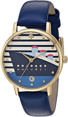 bbd0c05217e9 kate spade watches Metro Watch (Blue) - Neat watch design with the days of  the week + date