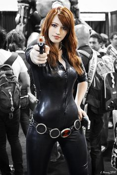 Black Widow Cosplay at San Diego Comic-Con 2010. Photo by Jason.E.N.