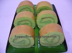 Happy Flour: Pandan Kaya Swiss Roll