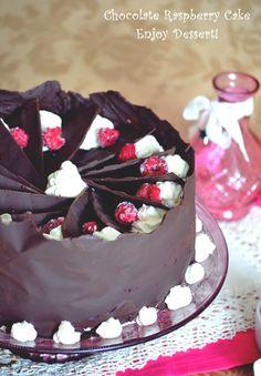 Tort de ciocolata cu crema de branza si zmeura Food And Drink, Search, Cake, Sweet, Desserts, Sweets, Candy, Tailgate Desserts, Pie