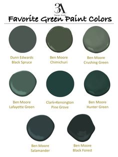 Color trend dark greens mallard black forest and for Benjamin moore dark green