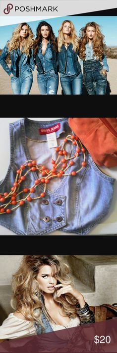 Guess denim vest Great condition , size S/P Guess Other