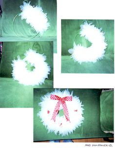 Some photos of the tulle wreath in different degrees of completion