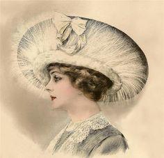 """1911 Grand Album de Chapeaux"""" Chic Parisien"""