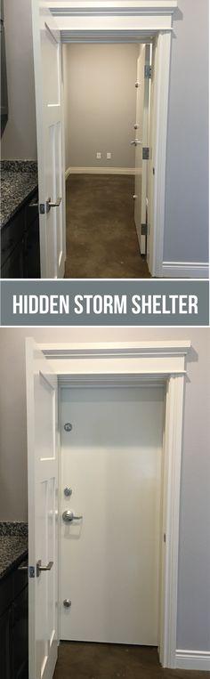 Oz safe room safe rooms inside outside pinterest for Hidden storm shelter