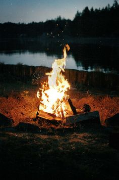 Kampvuur bij het meer op vakantie, that's the good stuff #vakantie #kampvuur #vakantiehuis