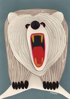 Paper collage, brazilian artista Catenzero.