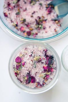 DIY Vanilla Rose Bath Salts