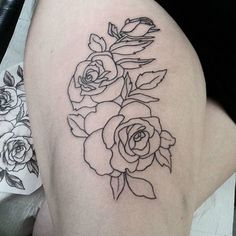 Not finished. Just line rose tattoo on the leg https://www.instagram.com/bahadircemtattoo/ #legtattoo #justline #linetattoo #dövme #rosetattoo #womantattoo