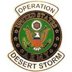 """U.S Army Operation Desert Storm Pin 1"""" by FindingKing. $8.99. This is a new U.S Army Operation Desert Storm Pin 1"""""""