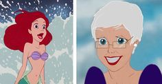 Here Are All The Disney Princesses In Their Old Age