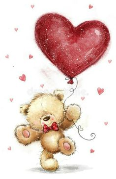 Illustration about Cute bear with big red heart. Illustration of proposal, lovely, marry - 84206783 Tatty Teddy, Teddy Bear Images, Teddy Bear Pictures, Teddy Bear With Heart, Love Bear, Valentines Illustration, Cute Illustration, Teddy Bear Drawing, Valentines Day Drawing