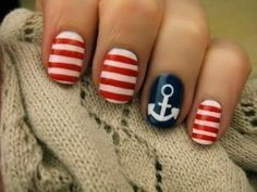 Great way to have your nails for the forth of july