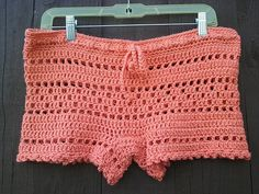Crochet Lace Shorts  Women Boy Shorts  Open Weave Mesh