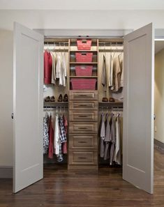 Closet with drawers