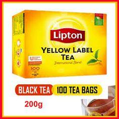 Lipton Yellow label 100 Tea Bags - The Single Origin Pure Ceylon Tea Lipton Ice Tea, Nature Made Vitamins, Pure Green Tea, Single Origin, Tea Brands, Daily Vitamins, Tea Box, Green Tea Extract, French Vanilla