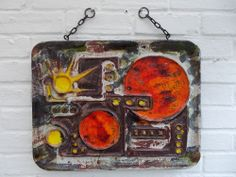 Ruscha Fat Lava Troika Era German Vintage 60s Space Age Pop Art XL Wall Tile