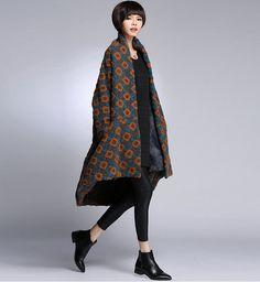 Fashion brand Big yards cloak wool coat female long от pppyesr