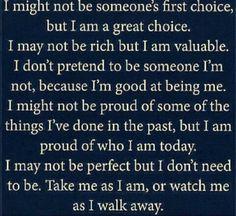 Proud of me