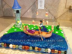 Coolest Rapunzel Cake... This website is the Pinterest of birthday cake ideas