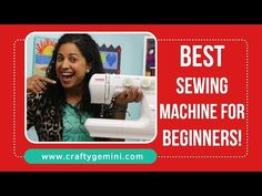 2016 BEST Sewing Machine for Beginners- Video Review - Crafty Gemini. - Janome 2212 -  Same one Debbie recommended.  (slp)