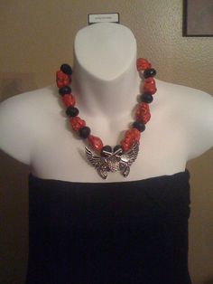 Texas Tech Red Raiders Necklace by Beckyschunkystuff on Etsy, $35.00