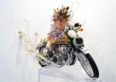 """""""On my Honda"""", Olivier Sultan, 2015. Assemblage d'objets divers. En vente dans notre rubrique Store."""