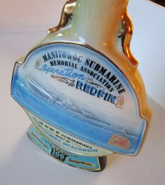 New to lingerawhile on Etsy: Jim Beam Manitowoc Submarine Bourbon Decanter - 1970 (25.00 USD)