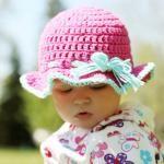 Adorable cotton sun hat.