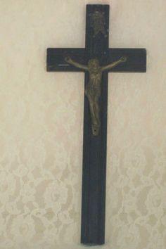 Vintage Wood Jesus On Cross #WallCrucifix