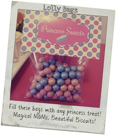 Princess Lolly Bags – Matchie Matchee www.matchiematchee.com.au https://www.facebook.com/MatchieMatchee