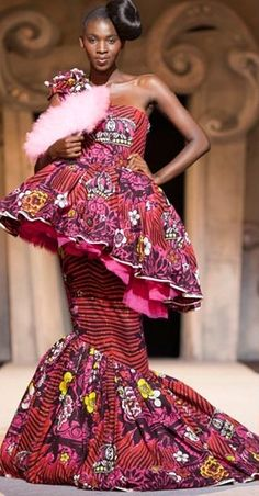 African-inspired patterns at VLISCO - BENIN Fashion Show