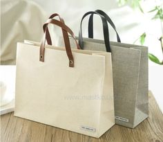 leather strps, fabric carrier bag, Special paper bag, Order made paper bag, high quality paper carrier bag
