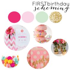 Birthday Party Planning, Color Theme: Pink Mint and Gold