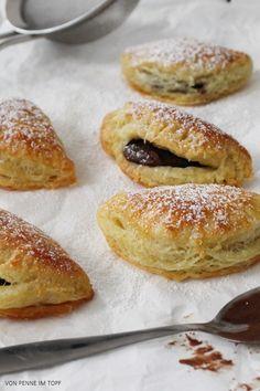 Penne im Topf: Quarktäschchen gefüllt mit Nuss-Nougat-Creme