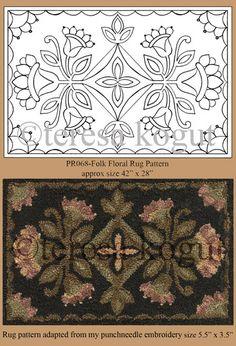 Folk Floral rug pattern by teresa_kogut, via Flickr
