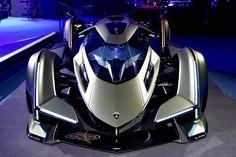 New Lamborghini Vision Gran Turismo Looks Like a Cooler Batmobile - All About CARS Exotic Sports Cars, Cool Sports Cars, Exotic Cars, Cool Cars, Huracan Lamborghini, Sports Cars Lamborghini, Lamborghini Diablo, Futuristic Motorcycle, Futuristic Cars