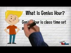 Genius Hour - This is an hour of class time per week set aside for kids to work on a project that they are passionate about. Video explains the concept in detail.