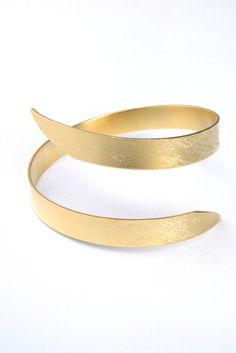 Greek GODDESS Swirling Arm Bracelet Greek Jewelry por zozichic, $72.00