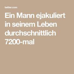 Ein Mann ejakuliert in seinem Leben durchschnittlich 7200-mal